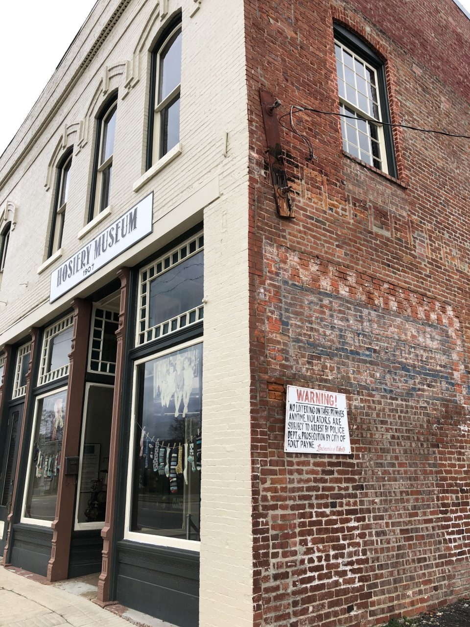The Ft. Payne Hosiery Museum honors the region's history of textile manufacturing. The old W.B. Davis Hosiery Mill seen in the video operated just a few blocks away from this location from 1874-1974.
