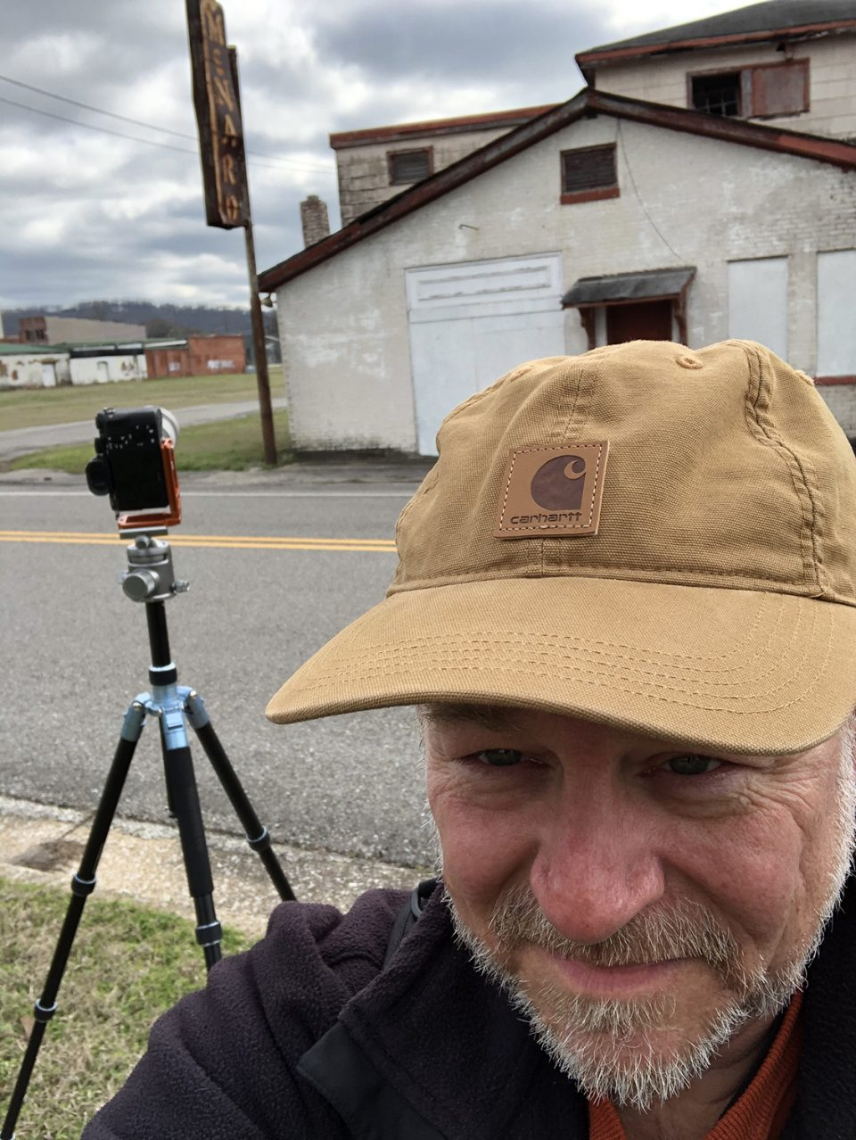 Yours truly, on the site of abandoned buildings in Anniston, Alabama.