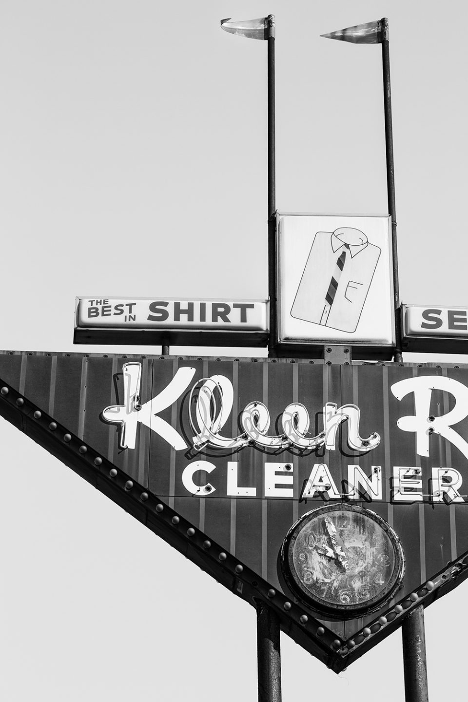Vintage sign for a dry cleaner, still in operation when I visited Hopkinsville.