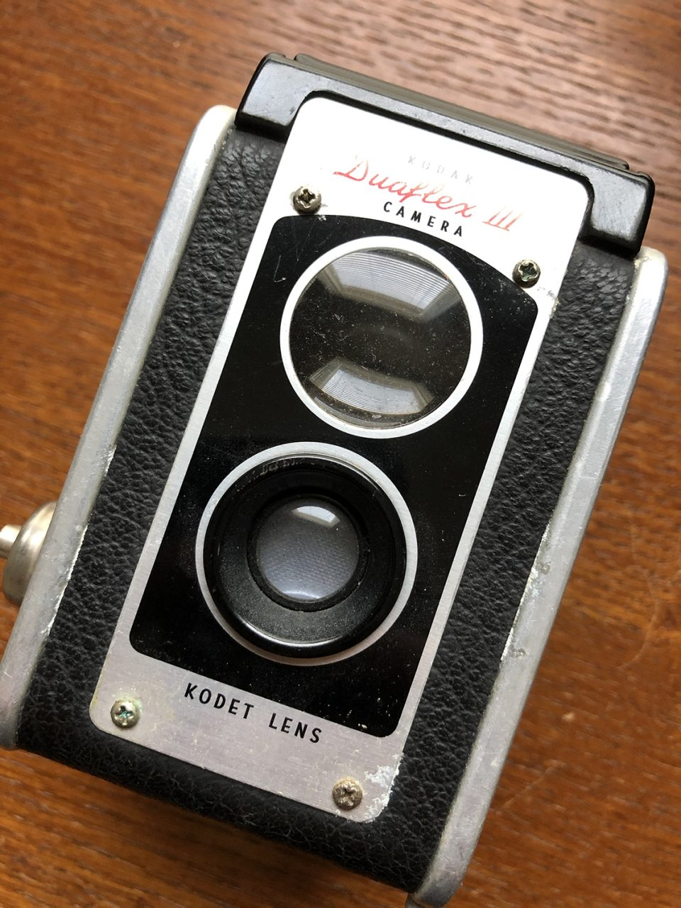 Kodak Duaflex III with Kodet lens, circa 1950s. Photograph by Keith Dotson.