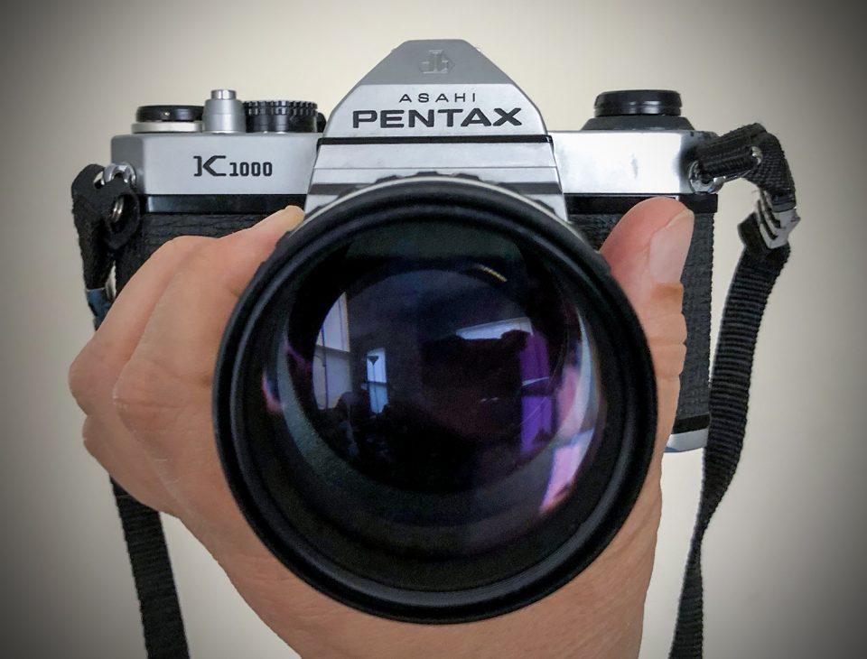 Asahi Pentax K1000. Photograph by Keith Dotson.