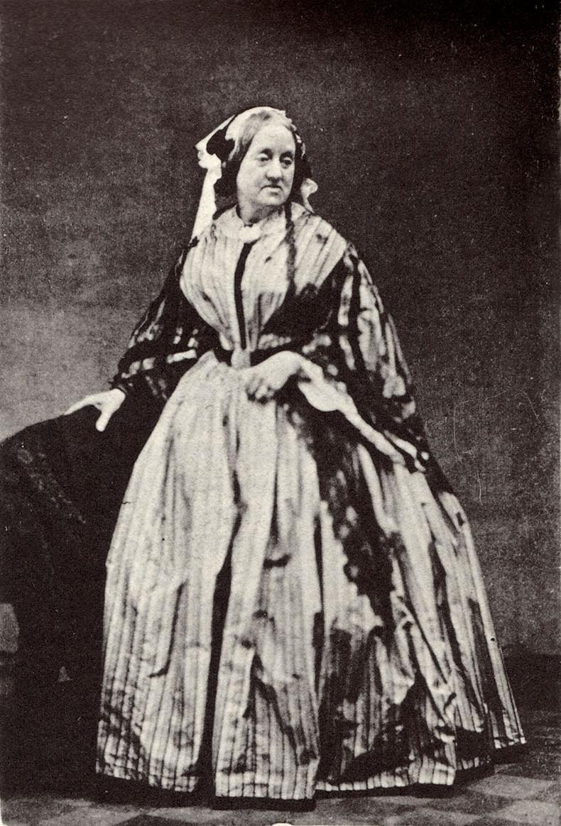 Portrait of Anna Atkins, albumen print, 1861, courtesy of Wikipedia