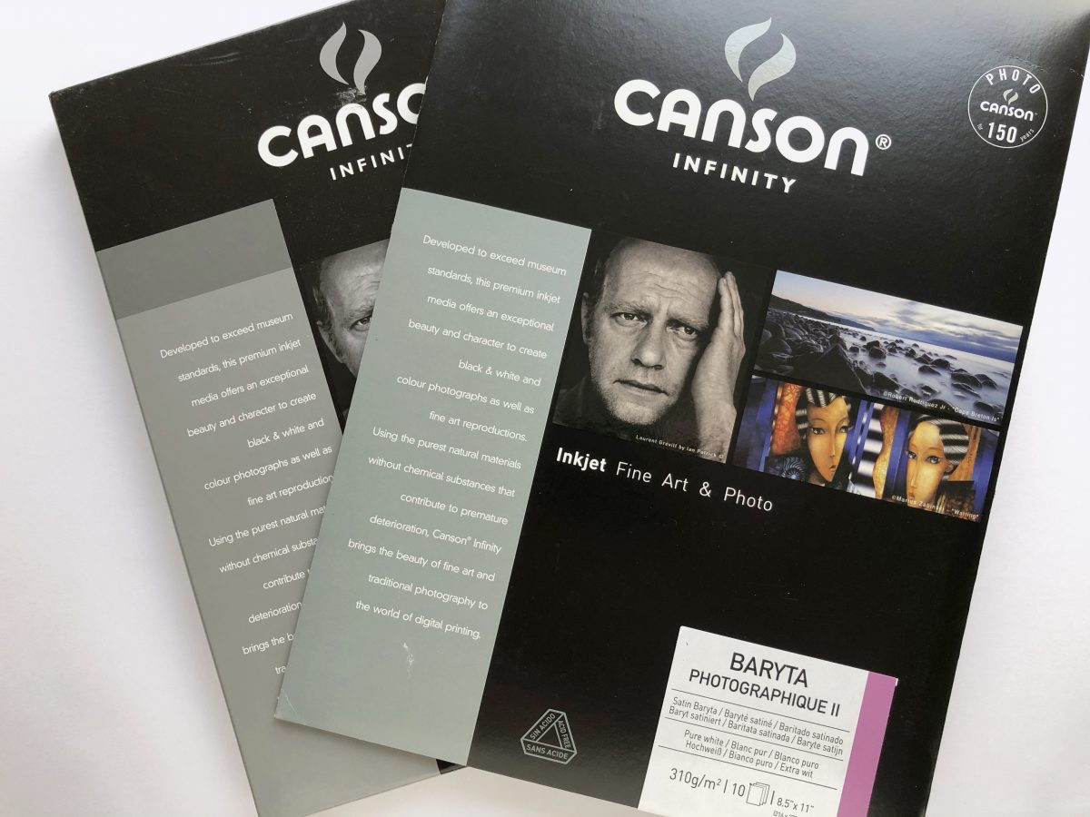 VIDEO: FIRST TEST PRINT ON THE NEW CANSON INFINITY BARYTA PHOTOGRAPHIQUE II