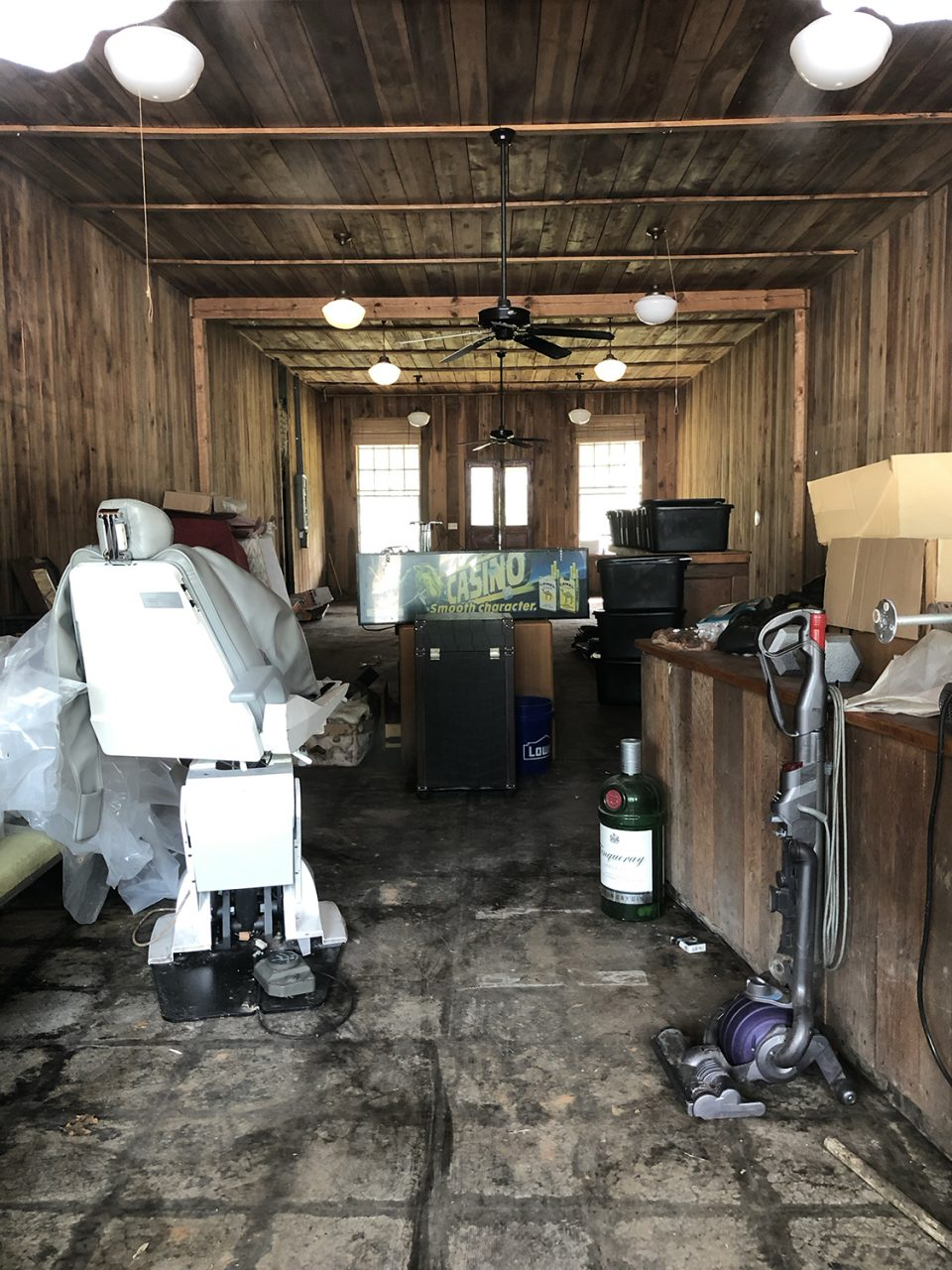 Another building on Main Street serves as a historically significant storage space, holding a variety of random items, including a dental chair.