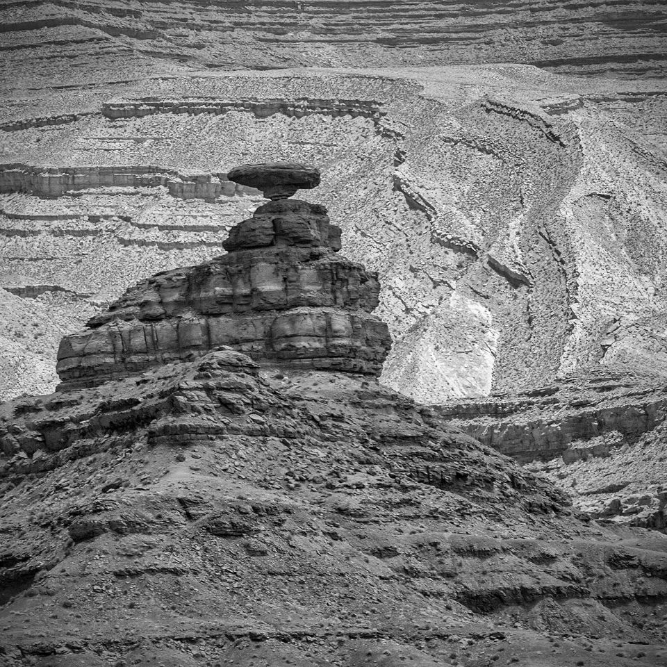 "The so-called ""Mexican Hat,"" a rock formation in Utah. Photograph by Keith Dotson."