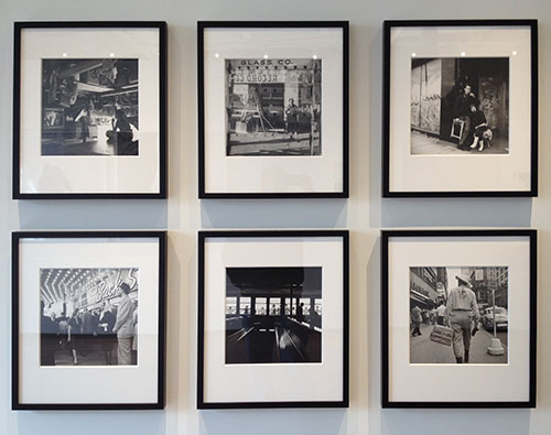 Six Vivian Maier photographs seen at a now defunct Nashville gallery that was devoted primarily to photography.