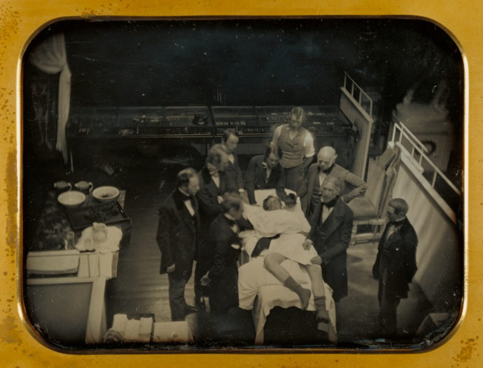 Early Operation Using Ether for Anesthesia, by Southworth & Hawes, from the Death of Pain series, courtesy of The Getty Museum.