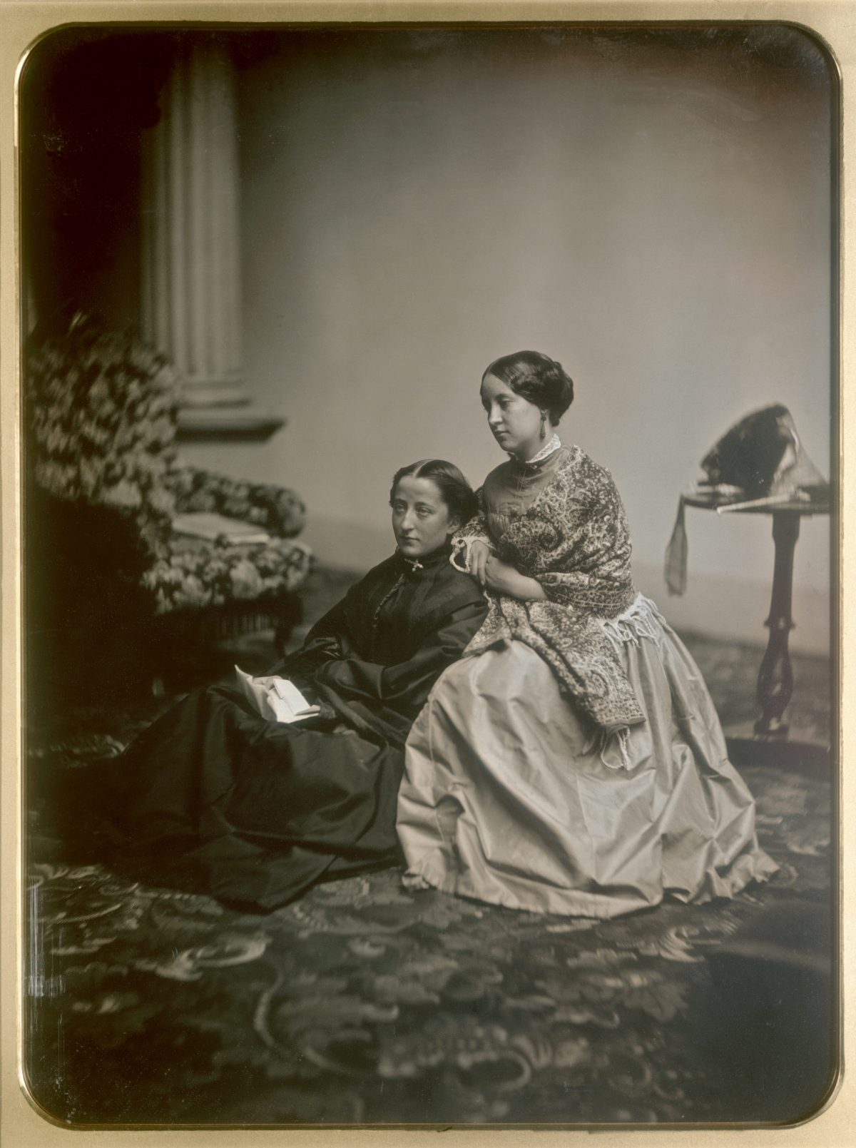 The Letter, a daguerreotype whole plate print by Southworth & Hawes circa 1850