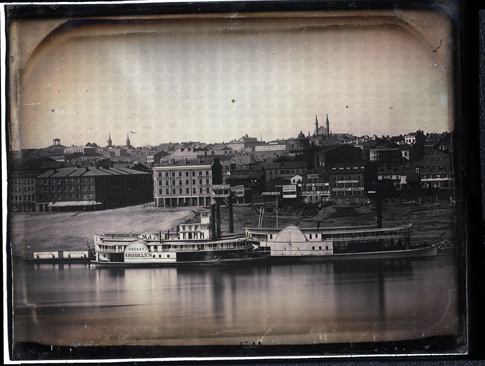 One of 8 daguerreotypes of the Cincinnati waterfront made by Charles Fontayne and William Porter in 1848. Image courtesy of courtesy of the Public Library of Cincinnati and Hamilton County