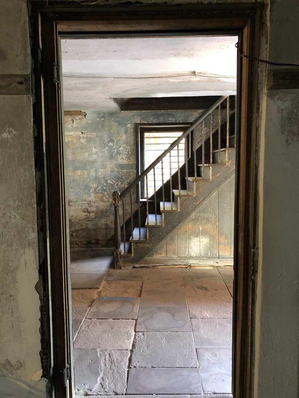 Ground floor interior of an old house in Charleston, South Carolina
