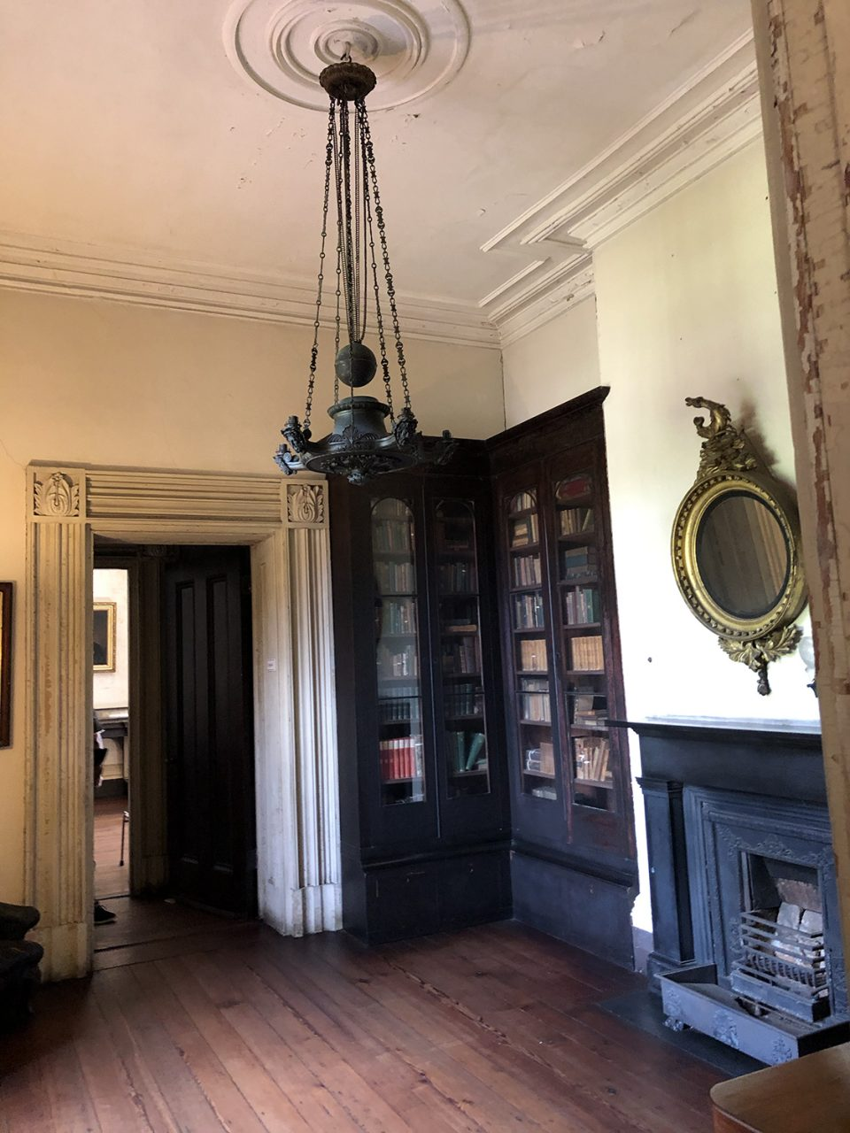 The old house still retains some of the original furnishings from various time periods