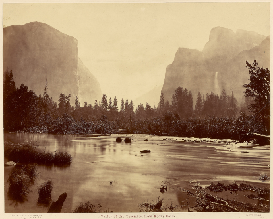 Eadweard J. Muybridge, Valley of the Yosemite, from Rocky Ford, 1872, 16.88 in x 21.45 in