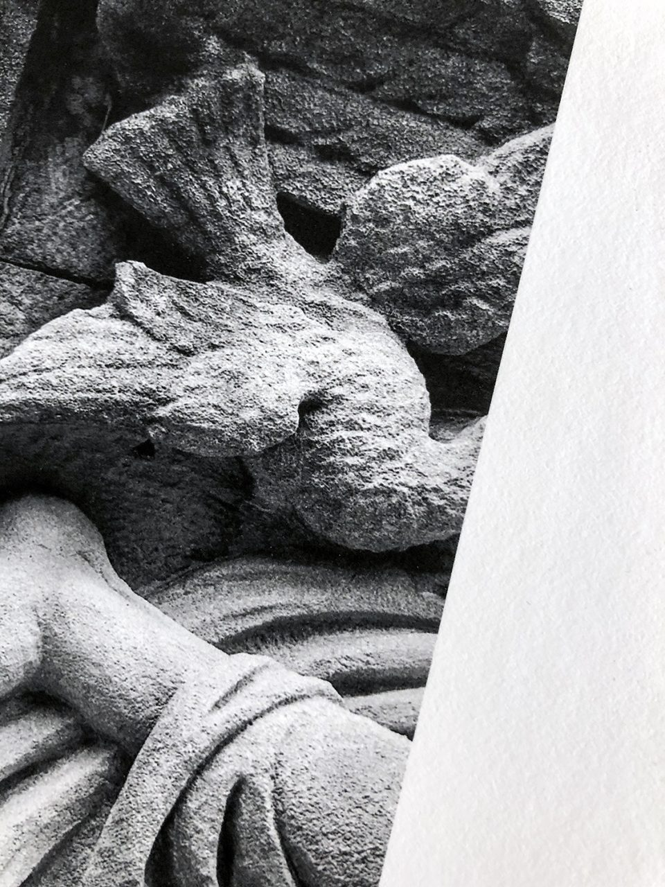 This detail image gives a hint of the texture of the Hahnemühle Photo Rag paper.