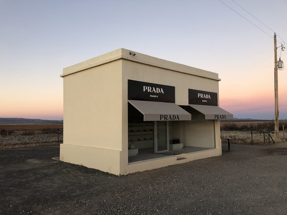 Prada Marfa, 2005, by Elmgreen and Dragset, funded by Ballroom Marfa.