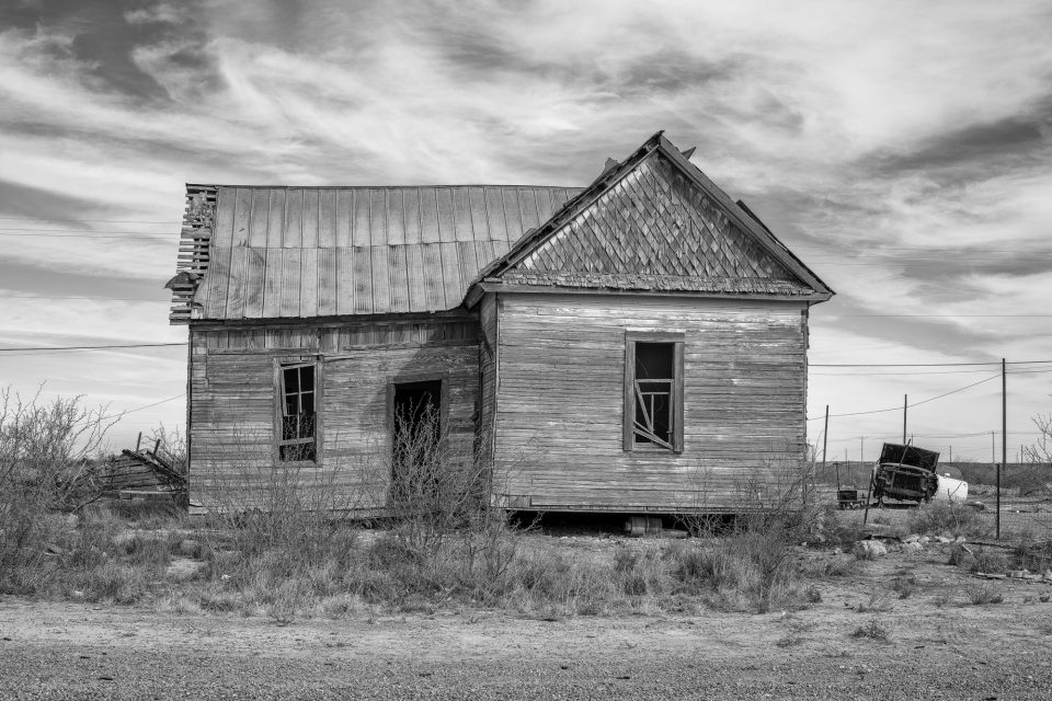 Dream home: This old house may have been someone's pride and joy, but now it's sagging, empty, neglected, and open to the elements.