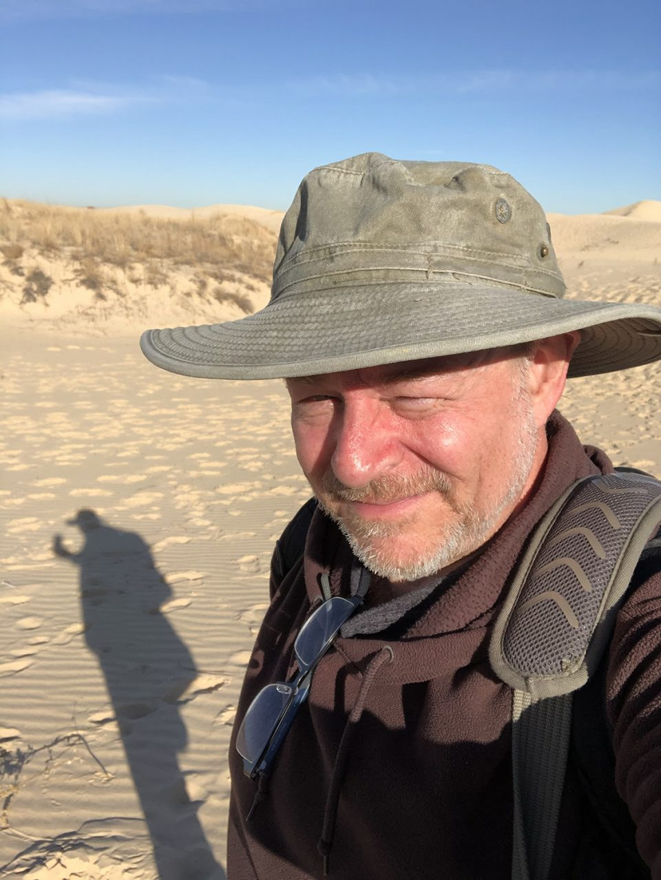 Self-portrait of fine art photographer Keith Dotson in the Monahans Sand Hills of West Texas
