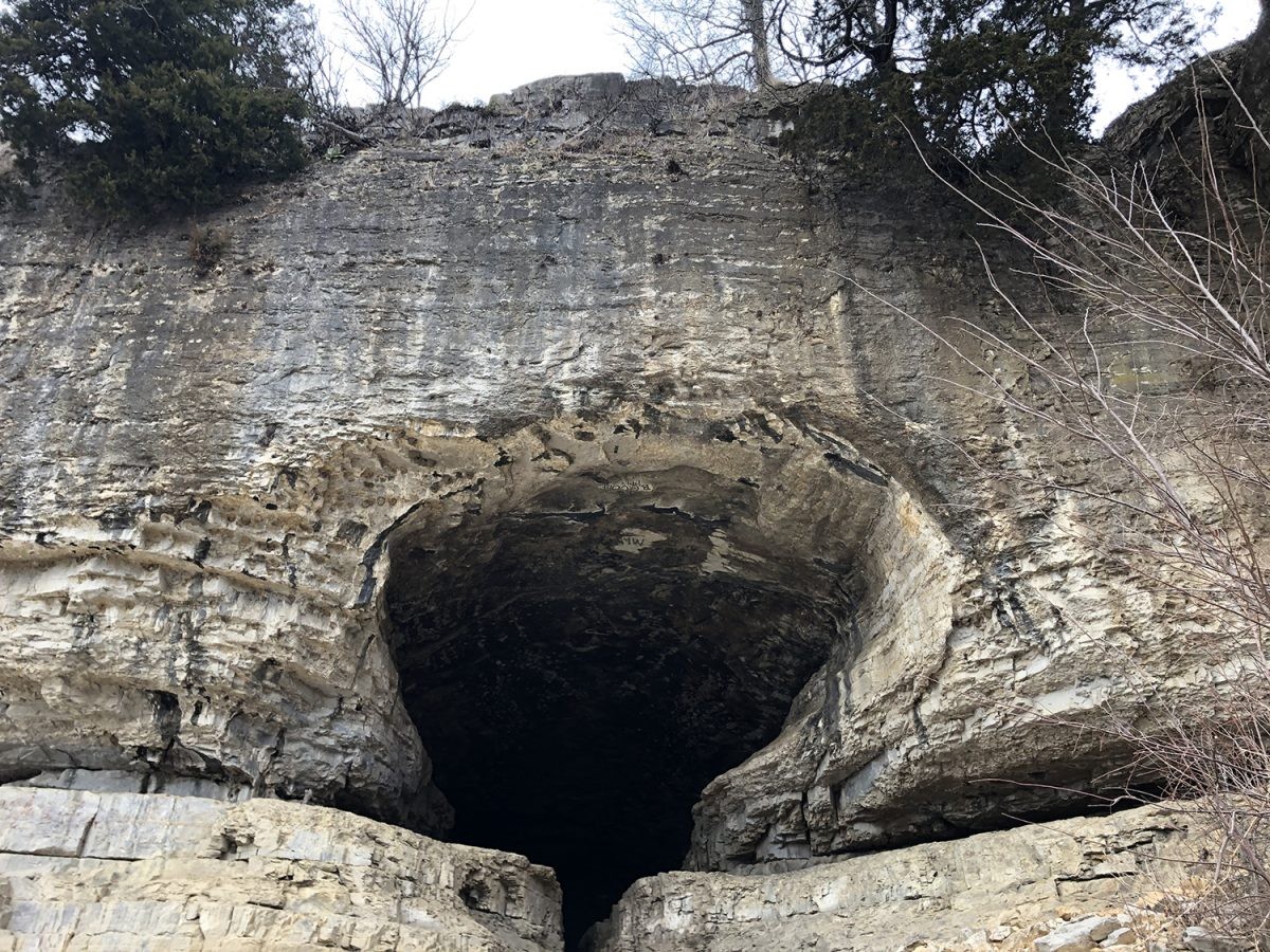 The mouth of Cave-In-Rock. Copyright Keith Dotson.