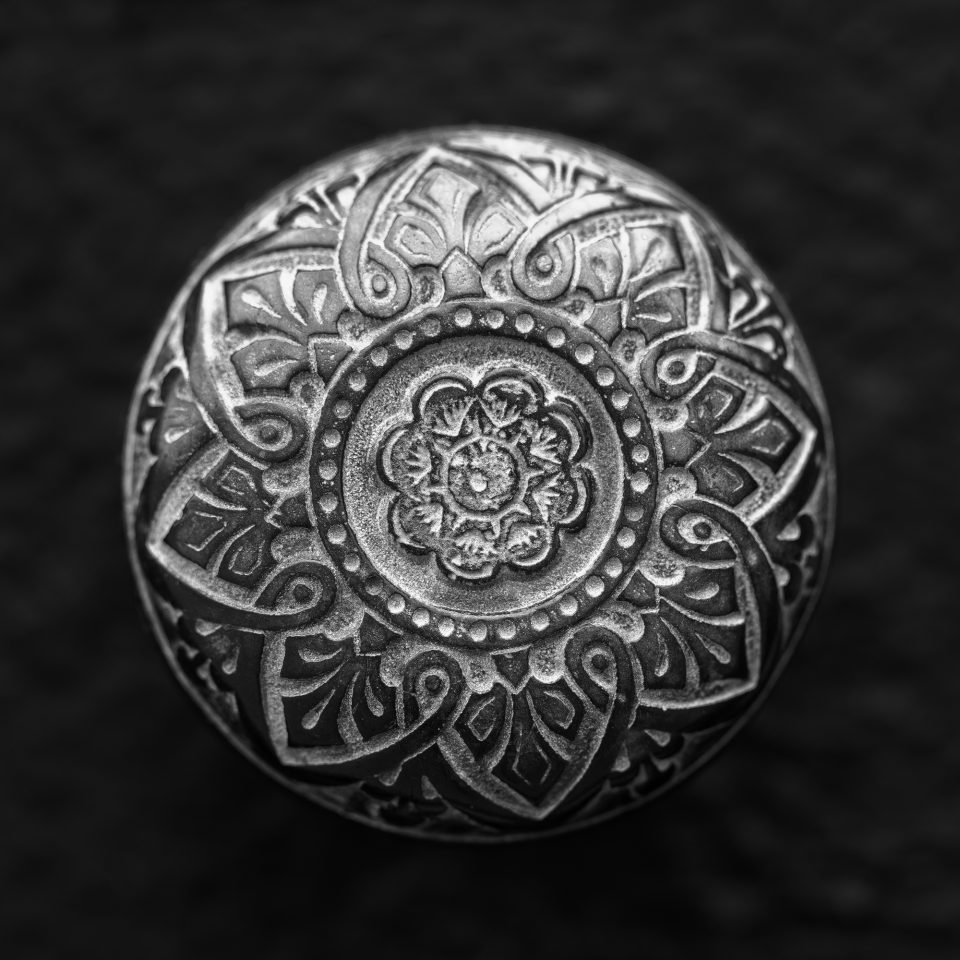 Antique Brass Door Knob - Black and White Photograph by Keith Dotson. Buy a fine art print.