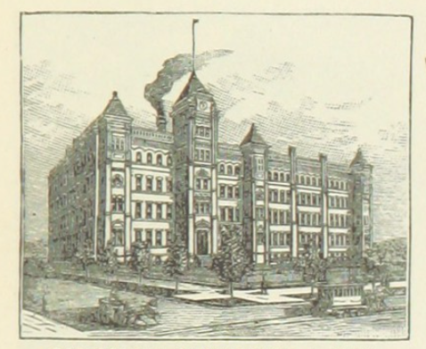 picture of Bausch & Lomb headquarters in Rochester 1891,