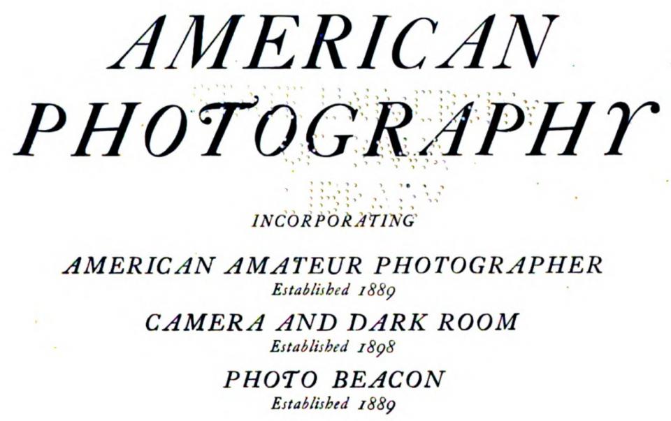 Masthead of American Photography, circa 1907.