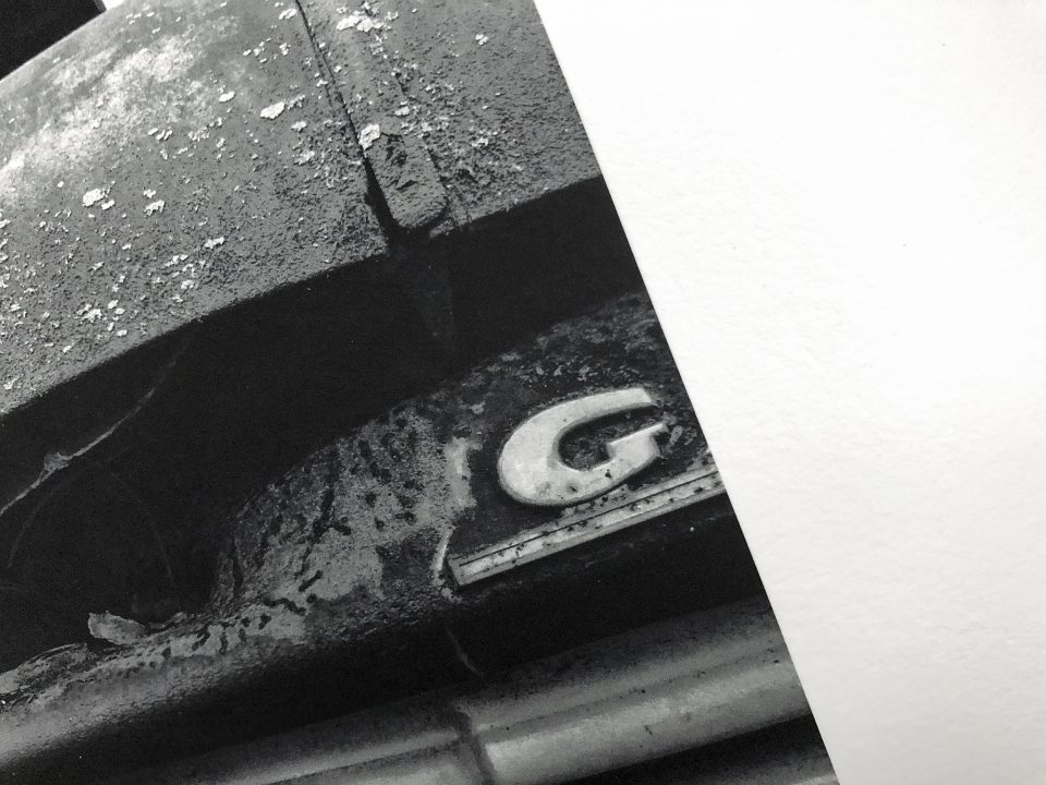 Close-up look at a black and white print on Hahnemühle Photo Rag.