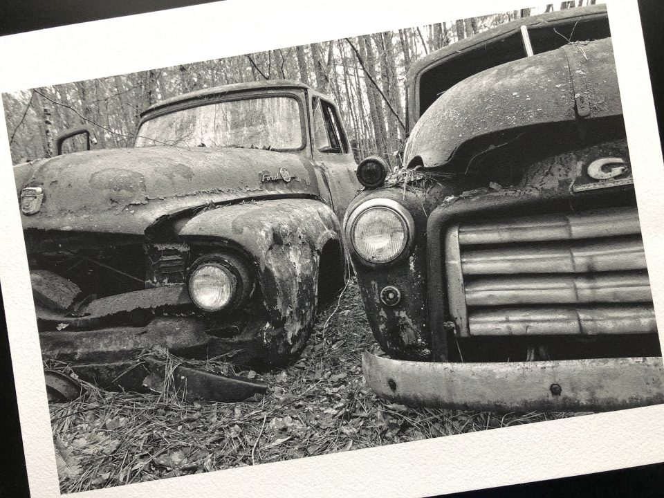 Black and white photograph by Keith Dotson, printed on Hahnemühle's textured watercolor paper called William Turner.