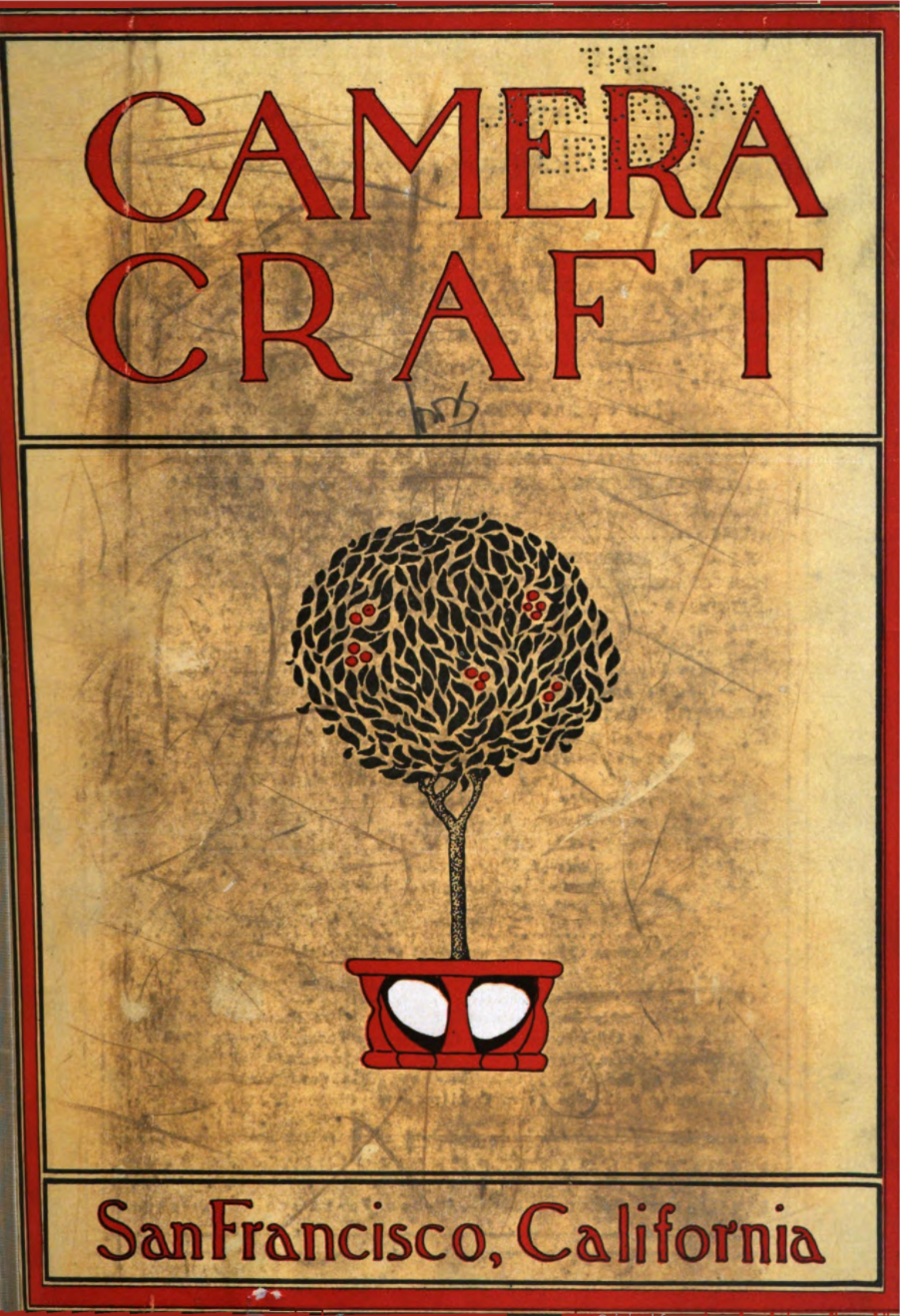 Front cover of Camera Craft magazine, circa 1905.