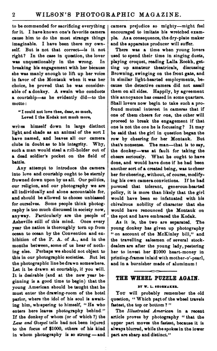 January 3, 1891 issue of Wilson's Photographic Magazine, published by Edward L. Wilson