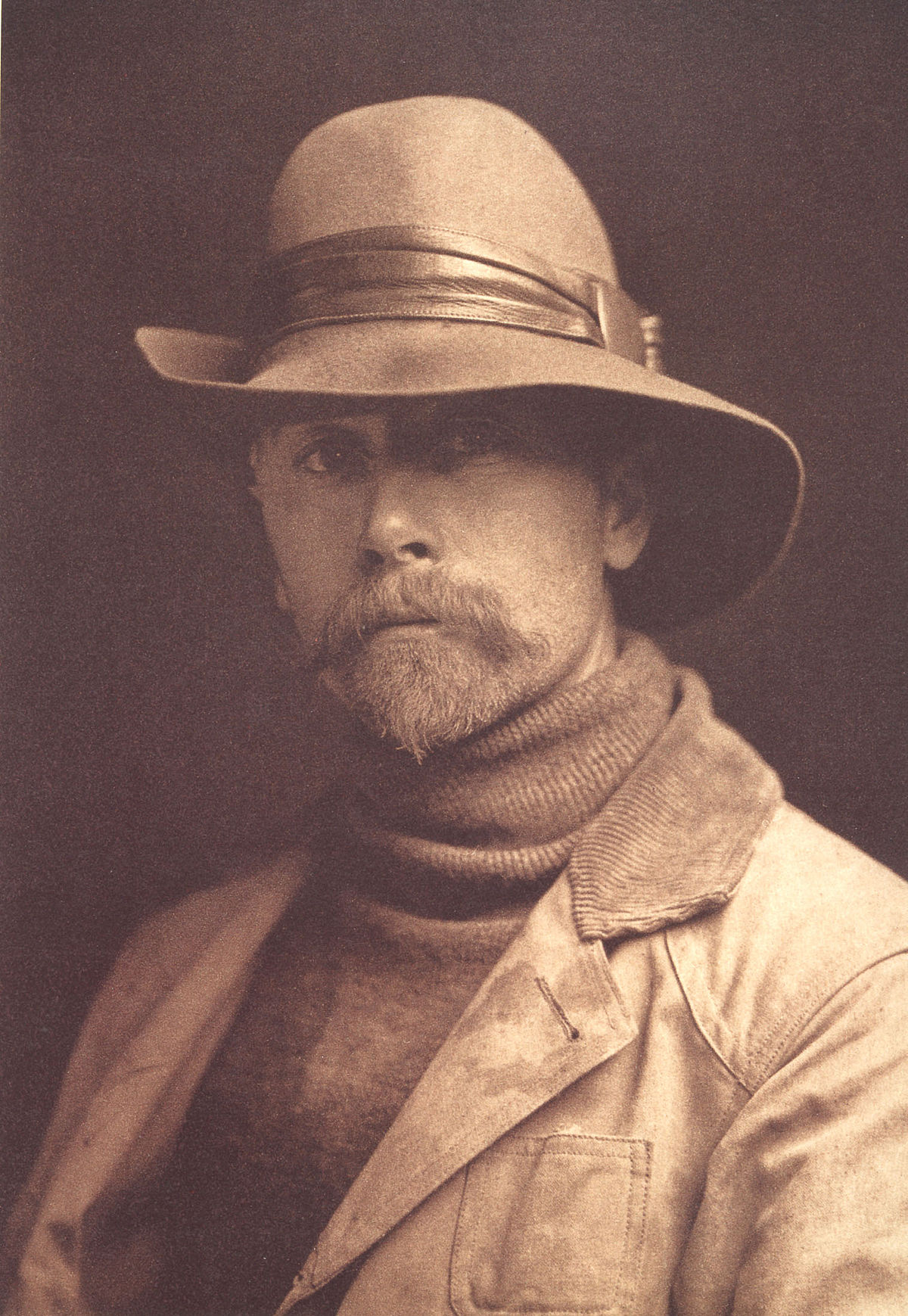 Self-portrait of Edward S. Curtis made in 1906