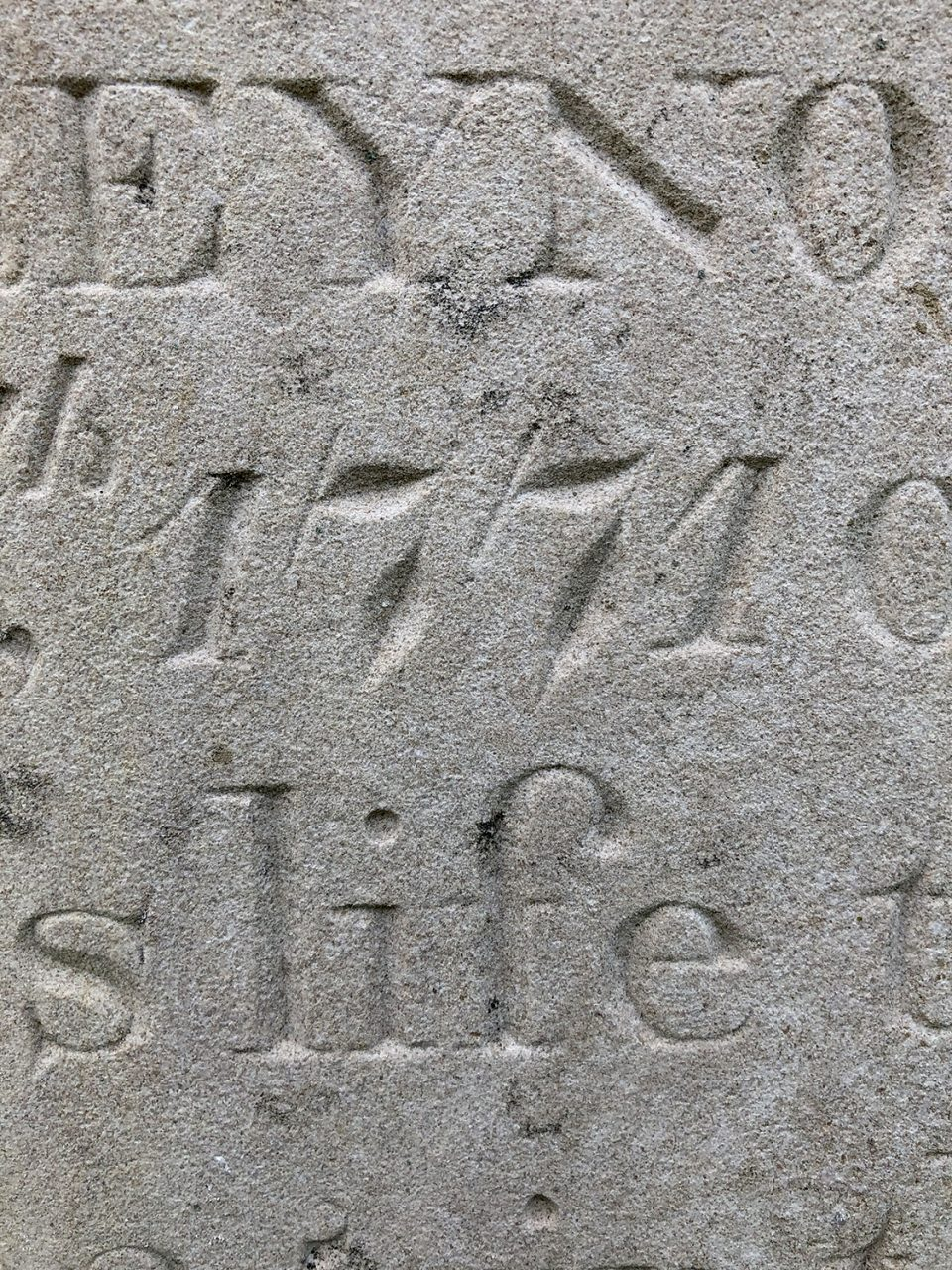 An extraordinary example of the incredible craftsmanship in the stone carving of these 200 year-old grave stones.