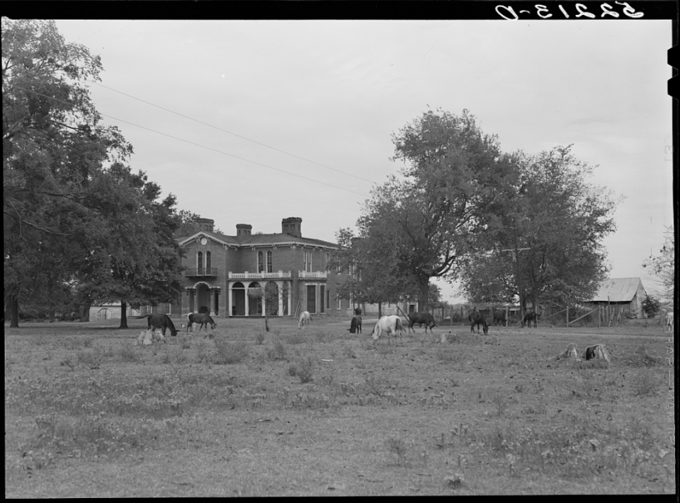 Old plantation, antebellum. Owned by Mrs. Lee. Mount Holly Plantation, Foote. Mississippi Delta, Mississippi. Photo by Marion Post Wolcott, 1939