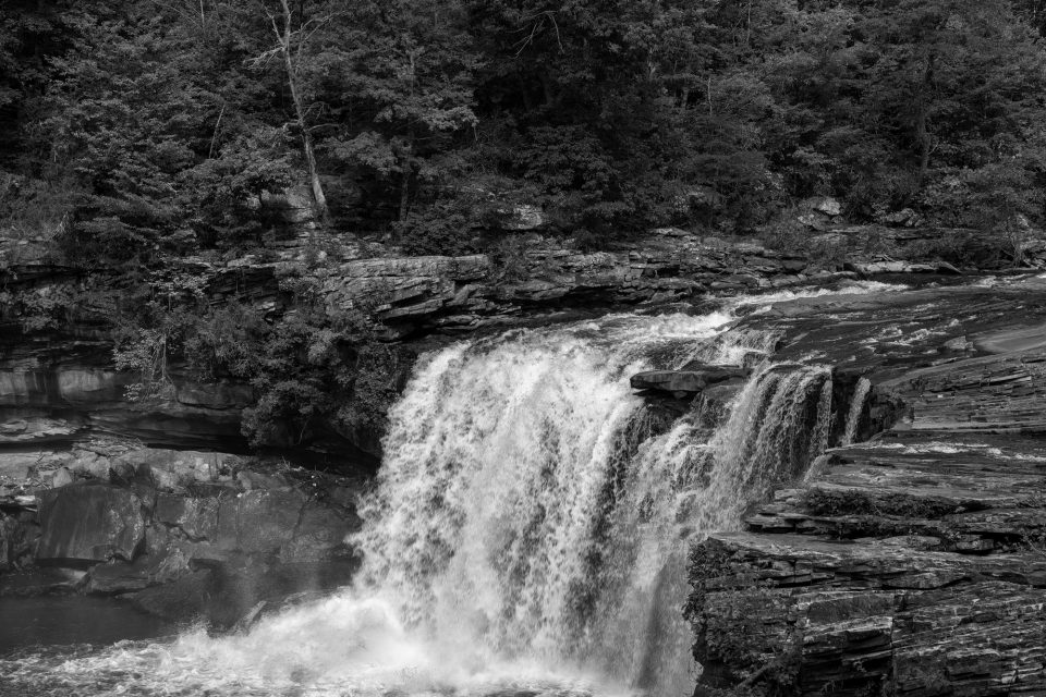 Little River Canyon Falls - Black and White Landscape Photograph by Keith Dotson. Buy a fine art print.