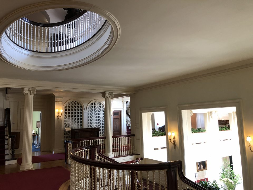 Upstairs interior view of the George Eastman Mansion.