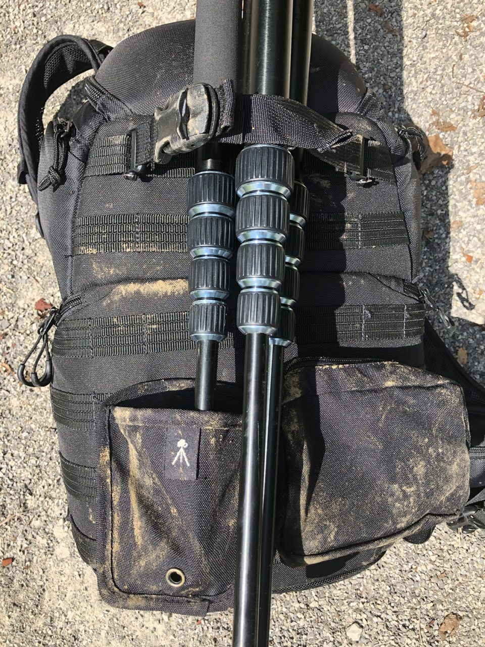 A photo of my camera bag and one of my tripods as seen on my last trip to the desert for landscape photography.