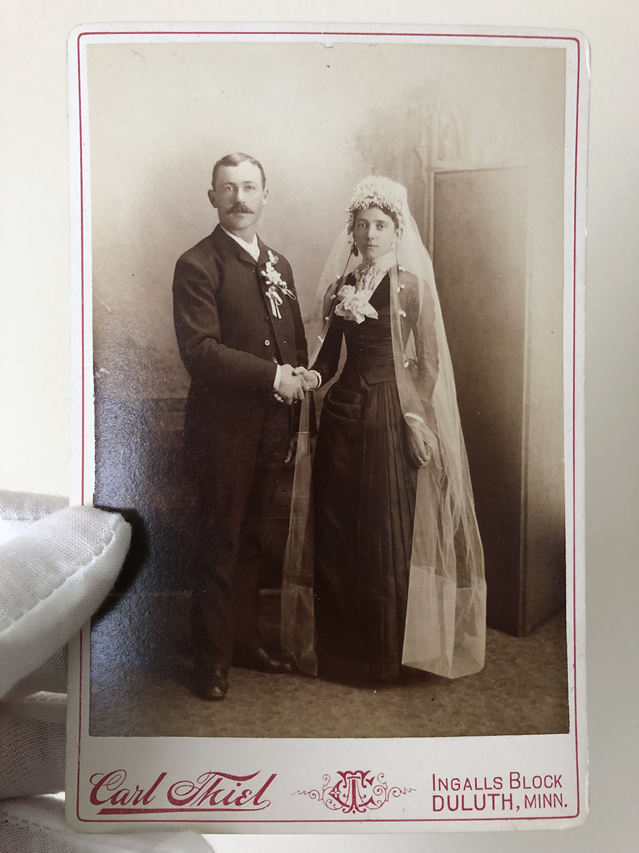 Albumen print on a cabinet card, circa 1890-ish.