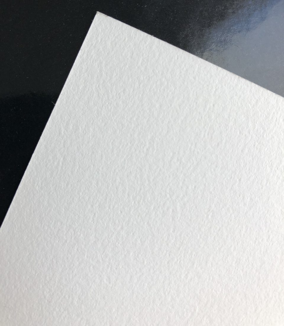 The reverse (non-printing) side of Canson Infinity Arches 88 is textured