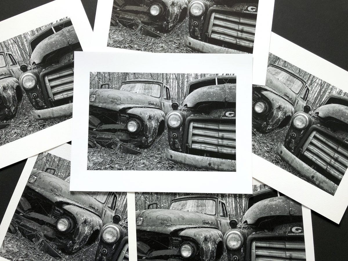 a Keith Dotson photograph printed on Arches 88 and five other matte surface papers